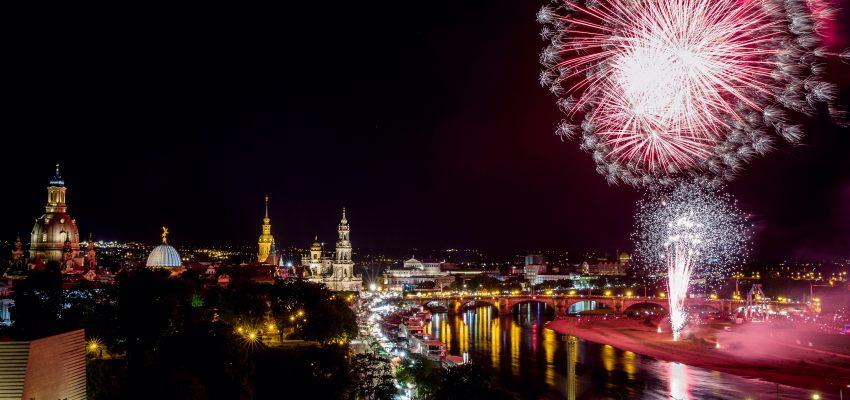CANALETTO – Das Dresdner Stadtfest | 18. – 20. August 2017 - Pressemitteilung - Abschlussfeuerwerk