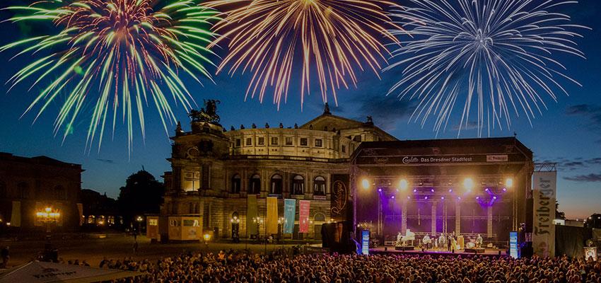 CANALETTO – Das Dresdner Stadtfest vom 16. bis 18. August 2019 - Pressemitteilung - Dresden feiert ausgelassen: Wieder mehr als 500.000 Besucher bei CANALETTO – Das Dresdner Stadtfest